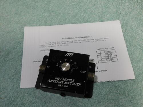 🔥 MFJ-910 200 WATT MOBILE ANTENNA MATCHER FOR SWR FIX / FOR HAM RADIO 50 OHM