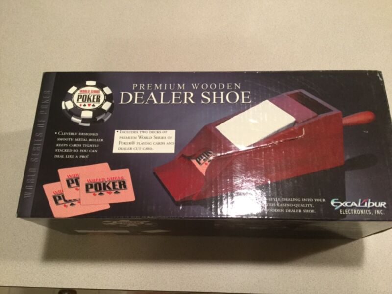 WSOP 4-DECK PREMIUM WOODEN DEALER SHOE **NEW**