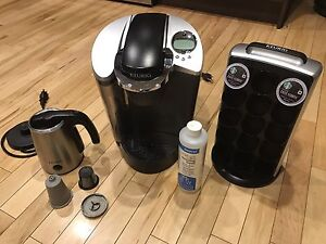 Keurig coffee maker kit frother all seen