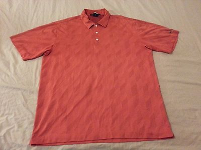 Mens Nike Tiger Woods Polo Shirt L Large Athletic Golf