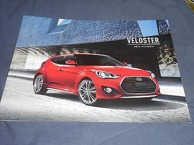 2016 Hyundia Veloster Color Brochure Catalog Prospekt
