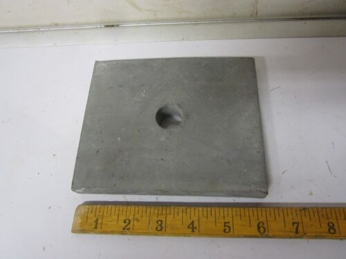 Small Anvil 6 lb. Scrap Flat Steel w/ center hole leather craft jewelry tool