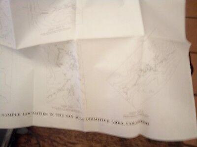 Map Showing U.S. Geological Survey Sample Locations In The San Juan Primitive Ar