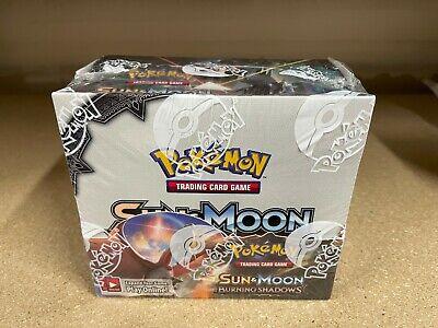 POKEMON TCG Sun & Moon Burning Shadows Sealed Booster Box ** 36 English Packs **