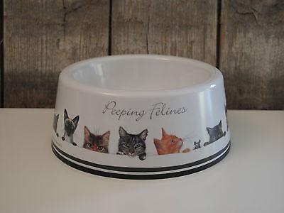 Ashdene - Katzennapf aus Melamin - Peeping Felines - Futter oder Wasser - Katze