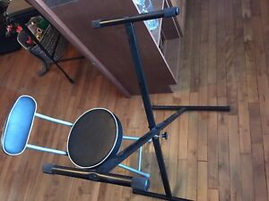 Keyboard stand and chair