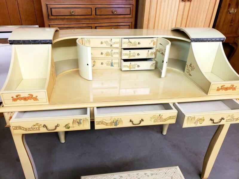 Antique Oriental Provincial Desk HAND PAINTED