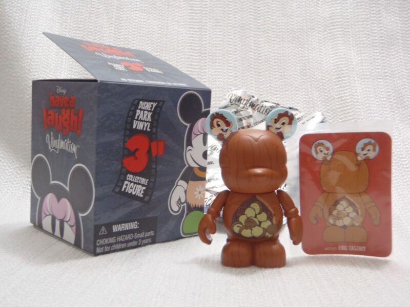 "Disney Vinylmation Have A Laugh CHIP & DALE Acorn Tree Winter Storage 3"" Figure"