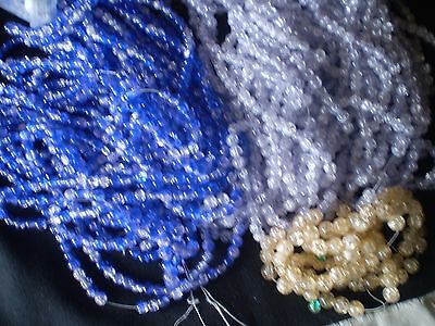 3  POUNDS lbs Huge Bulk Lot Glass CRACKLE ROUNDS Spacer Beads mix  6 mm
