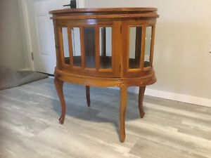 Display table, coffee table, curio cabinet?