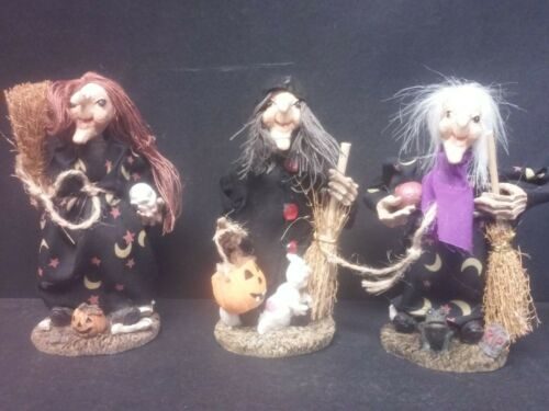 Halloween figurines 3 different witches