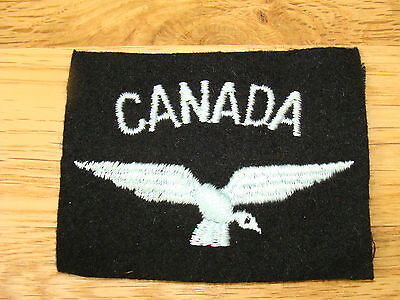 ORIGINAL WWII CANADA NATIONALITY PATCH AIR FORCE  VOLUNTEERS
