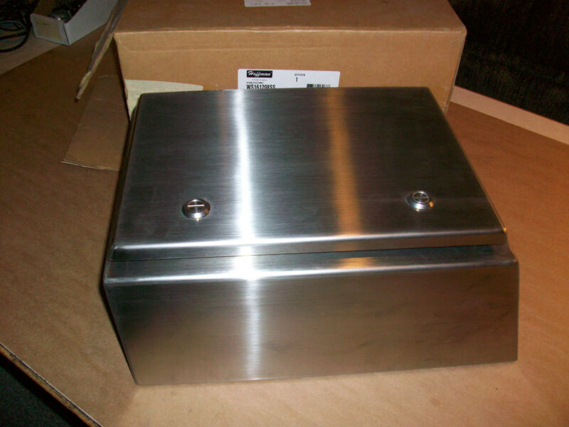 Hoffman Stainless Watershed Electrical Enclosure  WS161208SS   NEW IN BOX