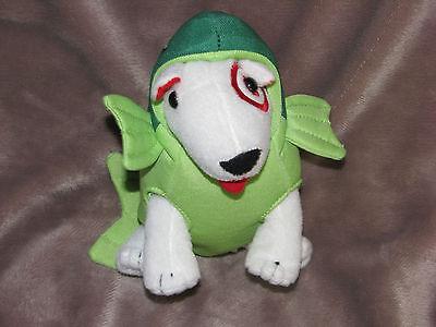 Plush Target Store Dog Bullseye Stuffed Toy in Green Fish Costume Outfit - Bullseye Dog Costume