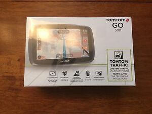 TomTom GO 500 GPS with accessories- Brand New