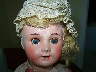 Antique French Doll Needs TLC Paper Mache? Feet Marked Gon Or Con 7?