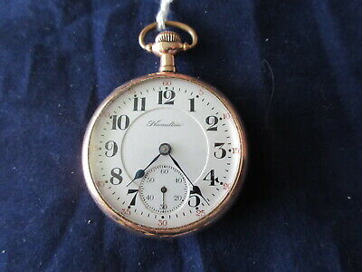 HIGH GRADE ANTIQUE HAMILTON 990 21 JEWEL RAILROAD GRADE POCKET WATCH