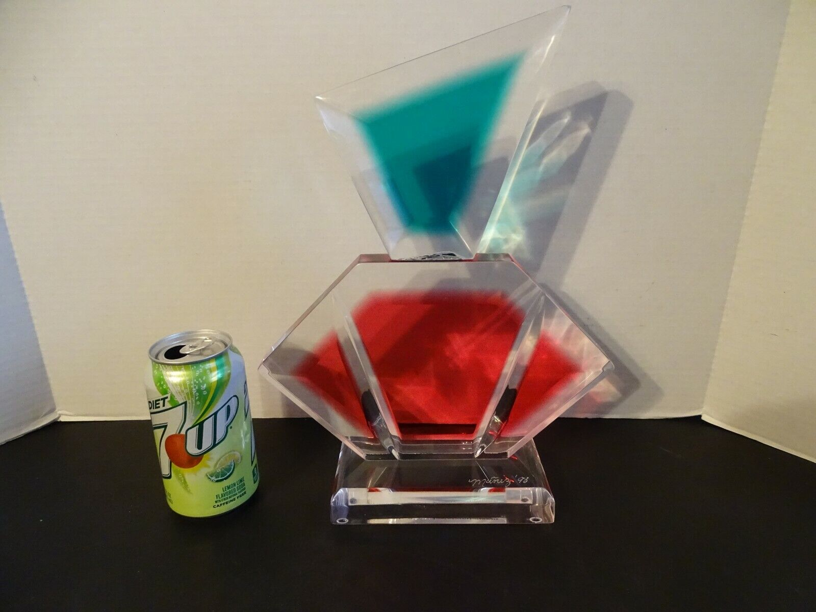 MUNIZ ACRYLIC LUCITE SCULPTURE SIGNED DATED 98 PERFUME STORE DISPLAY - $299.99