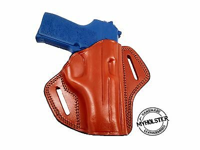 SIG Sauer P239 Right Hand Open Top Leather Belt Holster, MyHolster  - Open Top Sig