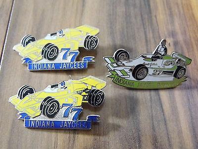 Jaycees trading Pins - Indiana Jaycees - Racing Cars Lot of 3 Pins