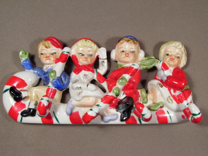 VIntage Christmas Relco Japan Hanging Candy Cane Hooks Children