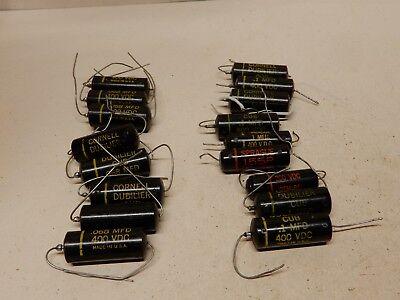 Cornell Cub Pio Capacitors .068 400 V 8 .1 Uf 400v 7 Sprague 155p .1 600v