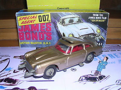 CORGI 261 JAMES BOND ASTON MARTIN DB5 & BOX - SUPERB! Corgi James Bond Aston Martin