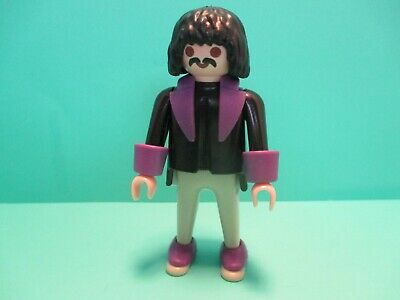 Spats, Gaiters, Puttees – Vintage Shoes Covers Playmobil figure MAN W/ BLACK HAIR & MUSTACHE IN FORMAL CLOTHES W/ PURPLE SPATS $4.49 AT vintagedancer.com