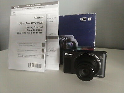 Canon PowerShot SX620 HS 20.2MP Digital Camera - Black - Vlogging - WiFi & HDMI
