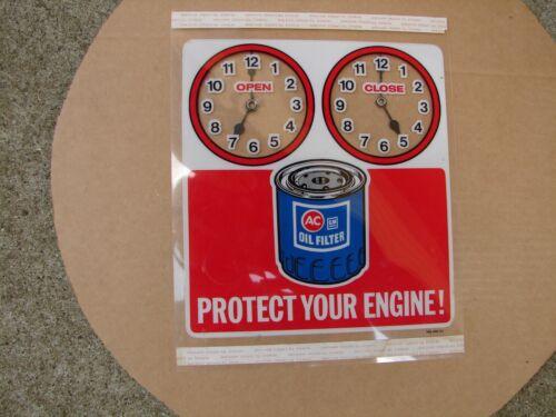 Original NOS GM AC Delco Oil Filter Sign Chevy Buick GMC Olds Pontiac