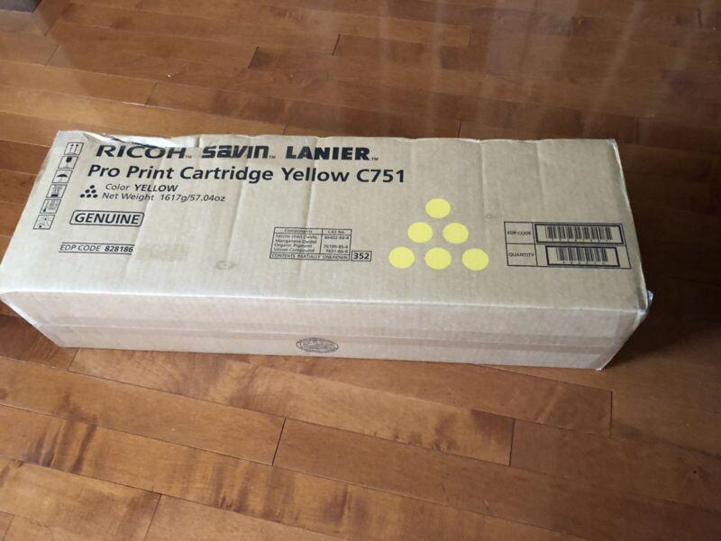 828188 New Genuine Ricoh Savin Lanier Cyan Pro Print Cartridge C751