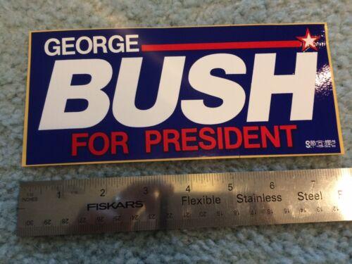 1992 Campaign GEORGE H.W. BUSH for PRESIDENT Bumper Sticker Original Trump New
