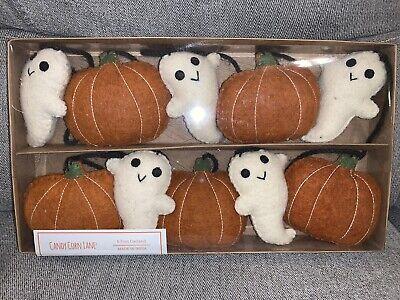 Halloween Fall Garland Pumpkin Friendly Ghost 6 Ft Felt Stitch Candy Corn Lane