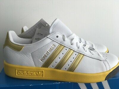 adidas forest hills 12 uk bnibwt white gold awaydays . unworn