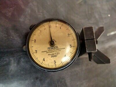 Vintage Federal Products Corp Dial Indicator Gage .0001 Model C21
