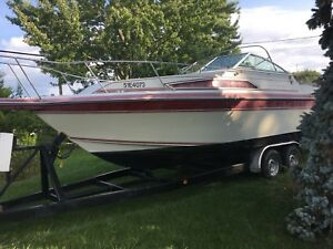 Boat 25ft w/ trailer-1989 Caderette Holliday 250