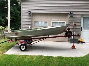 12' Princecraft Aluminum Boat. 7.5 HP Mercury. $1500 O.B.O.