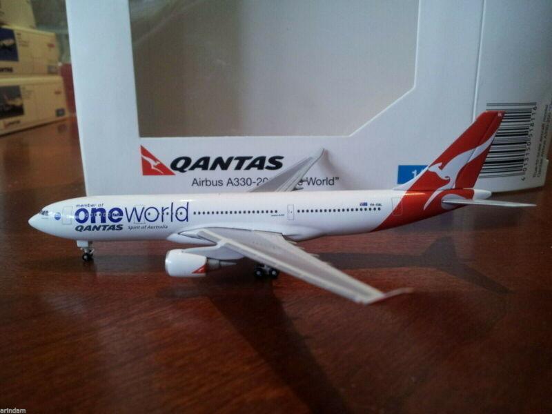 Herpa Qantas Airways A330-203 1:500 - 518116 2008-OneWorld VH-EBL