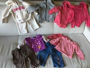 Lot of baby girl fall/winter clothes 12 months