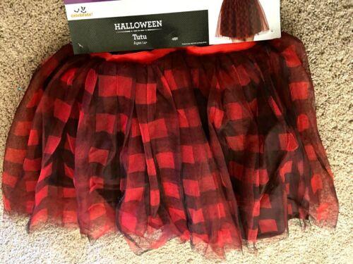 Tutu Skirt Red Black Scottish Plaid Dress Up Costume Hen Night Womens S M L XL