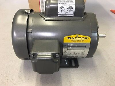 Baldor Electric Company L3401 General Purpose Motor - 1 ph, 1/6 hp, 1200 rpm