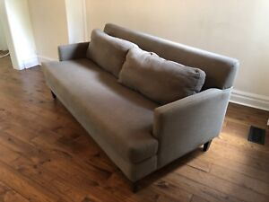 Couch from Design Republic, brown/gray