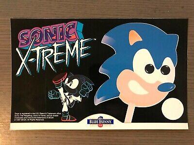 Sonic Xtreme Vintage Ice Cream Truck Sticker Original Unused 1997 Sonic Hedgehog