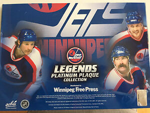 Winnipeg g Jets 1.0 Legends platinum plaque collection