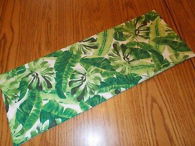 Tropical palm leaf decor MINI table runner Toilet Tank Topper handmade leaves (Toilet Toppers)