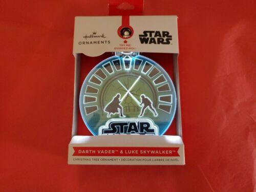 Hallmark 2021 Darth Vader Luke Skywalker Star Wars Light-up Christmas Ornament