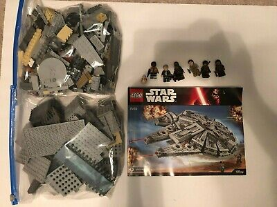 LEGO Star Wars Millennium Falcon (75105) - ALL PCS with Instructions & Minifigs!