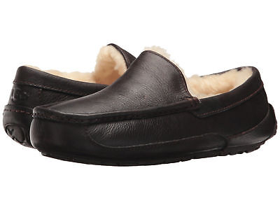 Men UGG Ascot 5379 China Tea Leather Slipper 100% Authentic Brand (Leather Ascot)