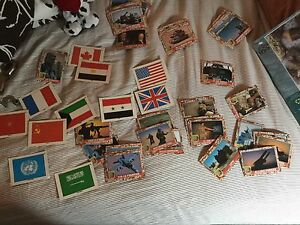 Desert Storm Topps trading card set with flag insert set