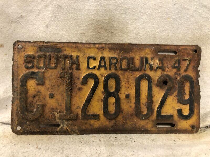 Vintage 1947 South Carolina License Plate